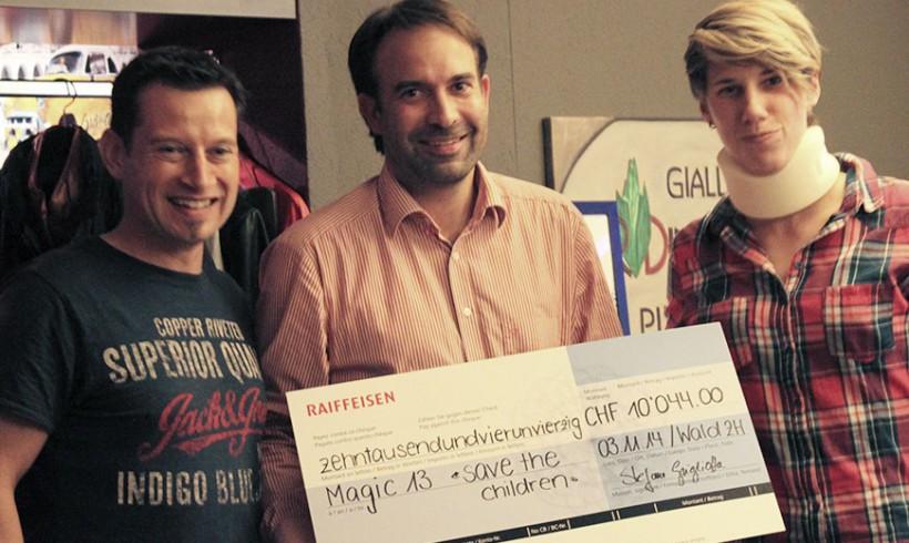 Über 10'000 Franken Sponsorengelder gespendet